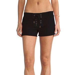 [NSF] bradsha black lace up shorts